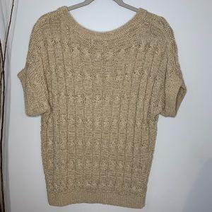 Joseph A Short Sleeve Knit Sweater Women's Large